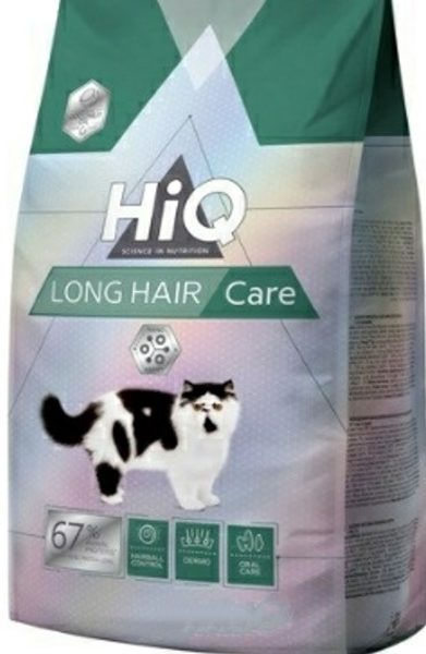 """HIQ מזון משובח לחתולים בוגרים ארוכי שיער  1.8 ק""""ג"""