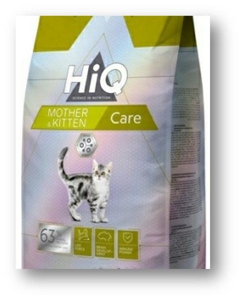 "HIQ מזון משובח לחתלתול וחתולות הרות  1.8 ק""ג"