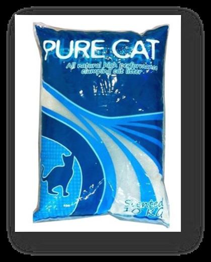 """חול מתגבש לחתול 10 ק""""ג בריח לימון - פיור קאט"""
