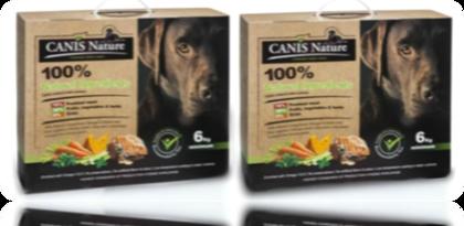 """קאניס נייצ'ר - מזון משובח, מלא ורך לכלבים מכל הגזעים המותאם לכל שלבי החיים וללא דגנים 12 ק""""ג."""