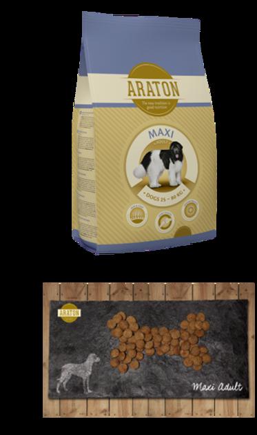 """ARATON - מקסי, מזון יבש סופר פרימיום לכלב פעיל בוגר 15 ק""""ג"""