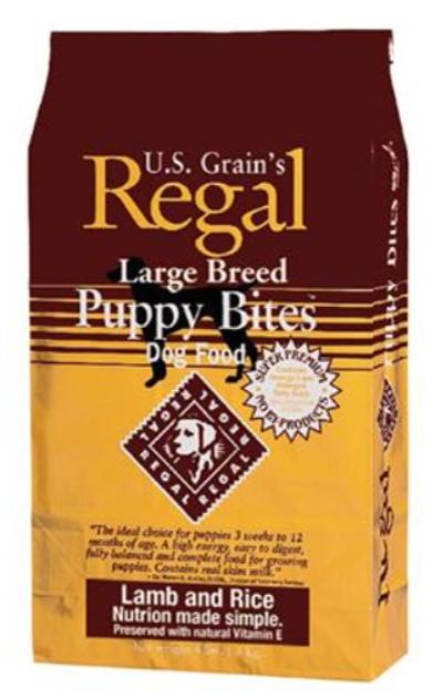 ריגל - מזון יבש משובח לכלבים גורים מגזע גדוול/קטן