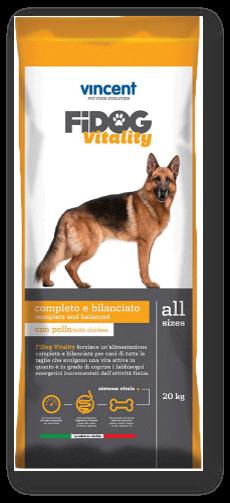 """וינסנט פידוג ויטיליטי, מזון יבש סופר פרימיום לכלב בוגר - 2 סוגי בשר 20 ק""""ג"""
