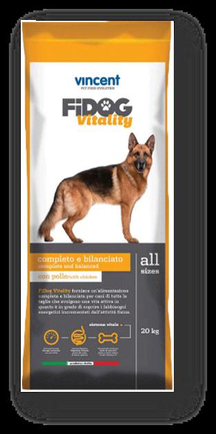 """וינסנט פידוג ויטיליטי, מזון יבש סופר פרימיום לכלב בוגר - 2 סוגי בשר 4 ק""""ג"""