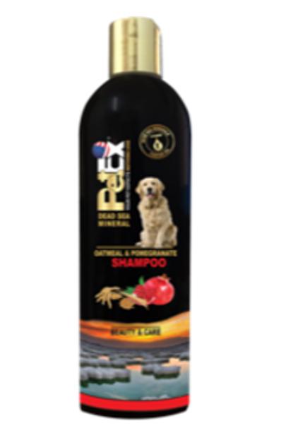 שמפו פט אקס  טיפוח איכות - סדרת ים המלח, תמצית רימונים ושיבול שועל שמן סומסום שמן זית 400 מל'