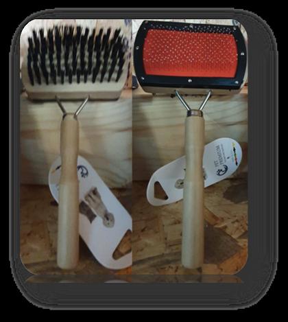 מברשת סירוק דו צדדית להפחתת שיער נושר עץ
