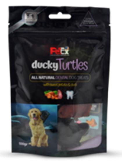 חטיף מלא לכלבים בדמות צב במילוי ברווז פט אקס 100 גר'