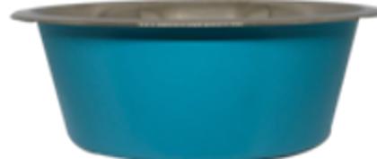 קערת נירוסטה עם תחתית גומי למניעת החלקה פט אקס 1.80
