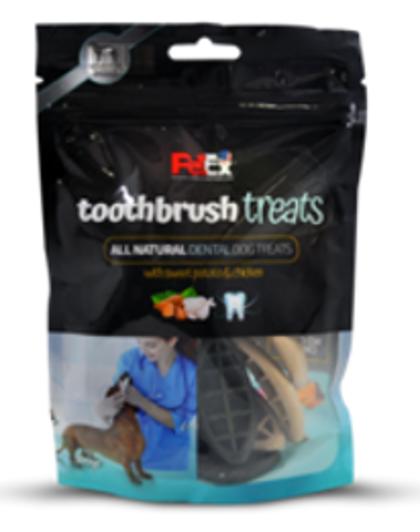 חטיף מברשת שיניים, חטיף מלא לכלב מיועד לניקוי שיניים פטאקס 100 גר'